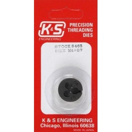 K&S - 463 - METRIC THREADING DIE - 4mm X 0.7