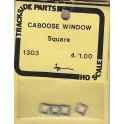 TRACKSIDE PARTS 1303 - CABOOSE WINDOWS - SQUARE