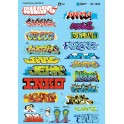 MICROSCALE DECAL 60-1534 - CONTEMPORARY GRAFFITI 2