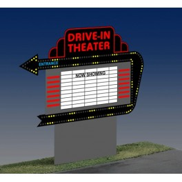 MILLER 1382 - DRIVE-IN THEATER SIGN - SMALL
