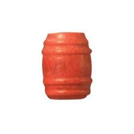 CAMPBELL 249 - TURNED WOOD BARRELS - RED
