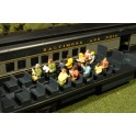 BACHMANN 33165 O SCALE PAINTED FIGURES - WAIST UP SEATED PASSENGERS