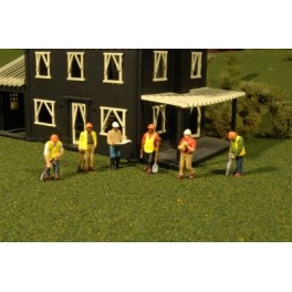 BACHMANN 33166 O SCALE PAINTED FIGURES - CIVIL ENGINEERS