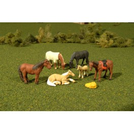 BACHMANN 33169 - PAINTED FIGURES - HORSES - O SCALE