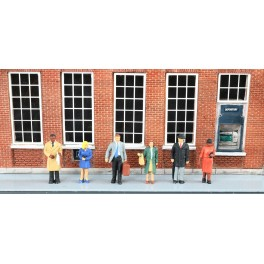 BACHMANN 33170 O SCALE PAINTED FIGURES - STANDING OFFICE WORKERS