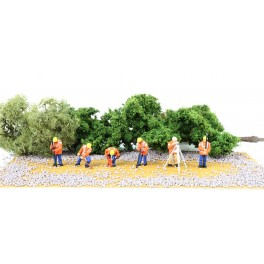 BACHMANN 33171 O SCALE PAINTED FIGURES - HIGHWAY MAINTENANCE CREW