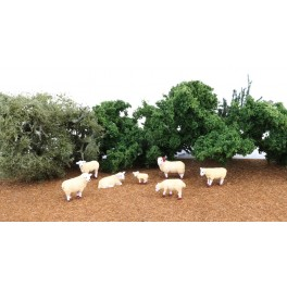 BACHMANN 33172 O SCALE PAINTED FIGURES - SHEEP