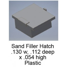 CAL-SCALE 190-733 - ALCO DIESEL LOCOMOTIVE SAND FILLER HATCHES