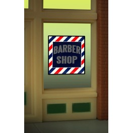 MILLER 8930 - NEON SIGN - BARBER SHOP WINDOW SIGN