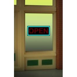 MILLER 9045 - NEON SIGN - OPEN WINDOW SIGN