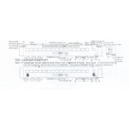 BLACK CAT DECAL - BC301 - DOMINION ATLANTIC PASSENGER CAR - GOLD