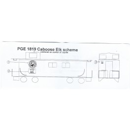 BLACK CAT DECAL - BC303 - PACIFIC GREAT EASTERN WOOD CABOOSE - CARIBOU