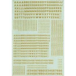 MICROSCALE DECAL 90058 - ALPHABET BLOCK GOTHIC DULUX