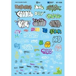 MICROSCALE DECAL 87-1536 - IRISH & SCOTTISH GRAFFITI