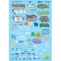 MICROSCALE DECAL 60-1536 - IRISH & SCOTTISH GRAFFITI - N SCALE