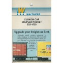 WALTHERS 933-1030 - CUSHION CAR COUPLER POCKETS