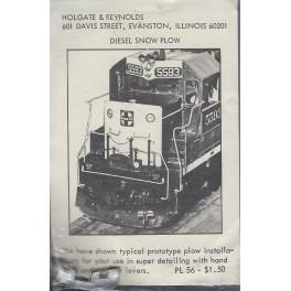 HOLGATE & REYNOLDS PL56 - DIESEL SNOW PLOUGH