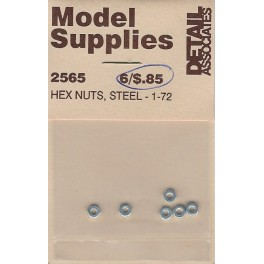DETAIL ASSOCIATES 2565 - HEX HUTS - STEEL 1-72