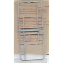 DETAIL ASSOCIATES 6431 - END FRAME & LADDERS - ACF CENTER FLOW COVERED HOPPER
