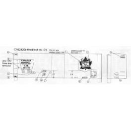 "BLACK CAT DECAL - BC115-N - CANADIAN NATIONAL 40' BOXCAR - 10'6""IH - N SCALE"
