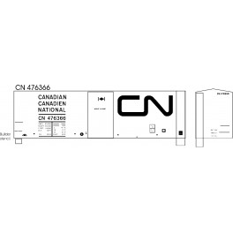 BLACK CAT DECAL - BC251-0 - CANADIAN NATIONAL 40' BOXCAR - 10'IH