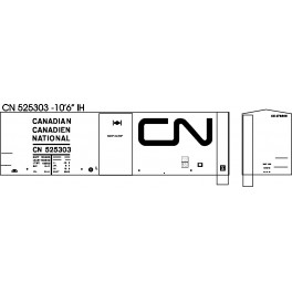 "BLACK CAT DECAL - BC252-O - CANADIAN NATIONAL 40' BOXCAR - 10'6""IH"