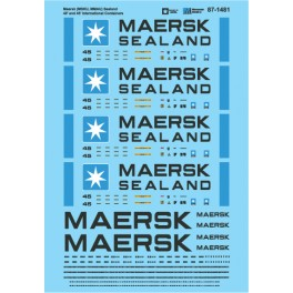 MICROSCALE DECAL 87-1481 - MAERSK SEALAND INTERNATIONAL CONTAINERS