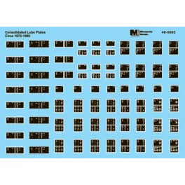 MICROSCALE DECAL 48-5003 - CONSOLIDATED LUBE PLATES - CIRCA 1970-1980