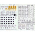 MICROSCALE DECAL 48-661 - FREIGHT CAR DATA - RAILROAD ROMAN - BLACK