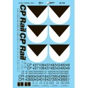 MICROSCALE DECAL 48-708 - CPRAIL CABOOSES - O SCALE