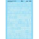 MICROSCALE DECAL 90301 - ALPHABET BLOCK GOTHIC WHITE