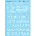 MICROSCALE DECAL 90321 - ALPHABET RAILROAD ROMAN WHITE