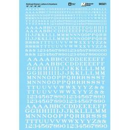 MICROSCALE DECAL 90321 - ALPHABET RAILROAD ROMAN WHITE