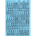 MICROSCALE DECAL 90332 - ALPHABET RAILROAD ROMAN BLACK