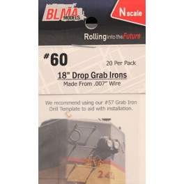 "BLMA 60 - N SCALE 18"" DROP GRAB IRONS"