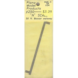 PLANO 250 - N SCALE 50' BOXCAR WALKWAY - SLOTTED PATTERN