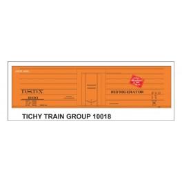 TICHY 10018 - DSDX 4600 SERIES MILWAUKEE ROAD RIB SIDE REEFER DECAL