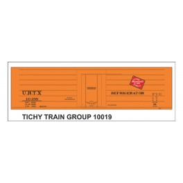 TICHY 10019 - URTX 10000 SERIES MILWAUKEE ROAD RIB SIDE REEFER DECAL