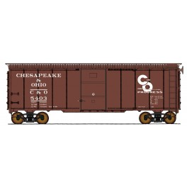 "INTERMOUNTAIN 45794 - 1937 AAR 10'0"" IH 40' BOXCAR - CHESAPEAKE & OHIO - 5438"
