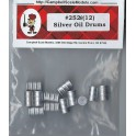 CAMPBELL 252 - SILVER OIL DRUMS - HO SCALE
