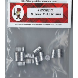 CAMPBELL 252 - SILVER OIL DRUMS