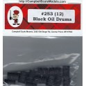 CAMPBELL 253 - BLACK OIL DRUMS - HO SCALE