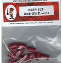 CAMPBELL 254 - RED OIL DRUMS - HO SCALE