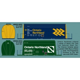 HIGHBALL F-409 ONTARIO NORTHLAND BARREL ORE CARS