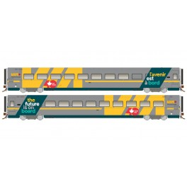 RAPIDO 108055-108057 - LRC COACH - VIA 40 WRAP