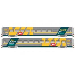 RAPIDO 108055-108057 - LRC COACH - VIA 40 WRAP