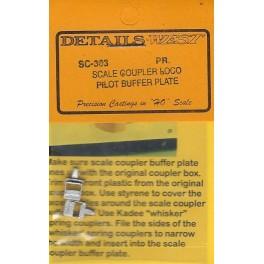 DETAILS WEST SC-363 - DIESEL LOCOMOTIVE SCALE COUPLER PILOT BUFFER PLATE