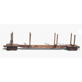 "CUSTOM FINISHING 318 - NATIONAL STEEL CAR 62'9"" LOG STAKE CAR"