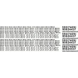 BLACK CAT DECAL - BC322 - CANADIAN PACIFIC REWEIGH DATES & LOCATIONS - 1955-1959
