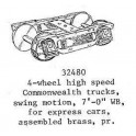 PSC 32480 - 4 WHEEL HIGH SPEED COMMONWEALTH TRUCKS